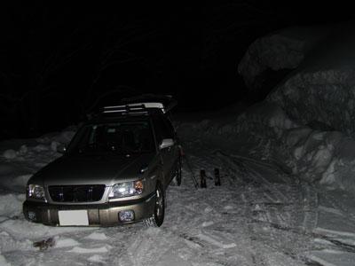 来馬の除雪終了点