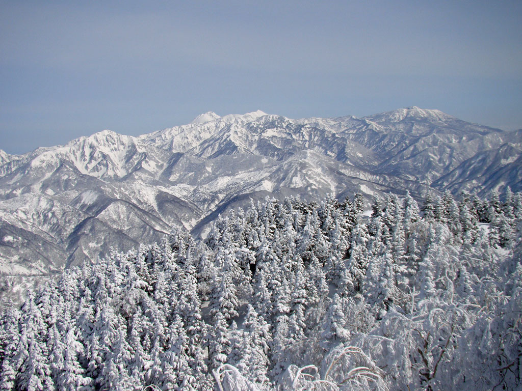 火打山、妙高山、黒姫山