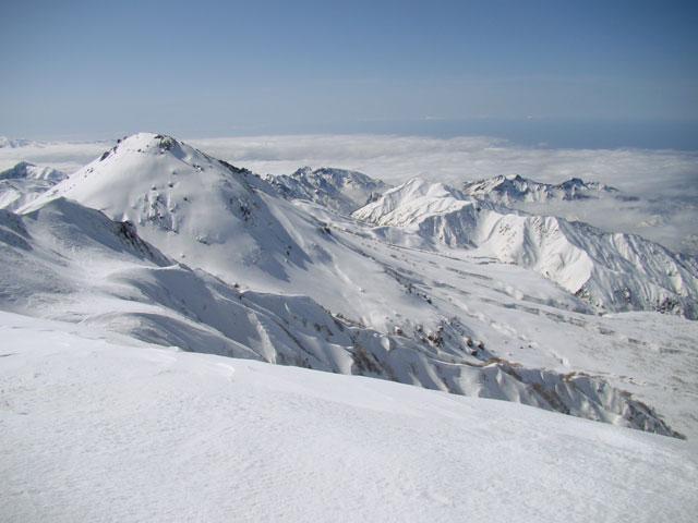 焼山と北面台地