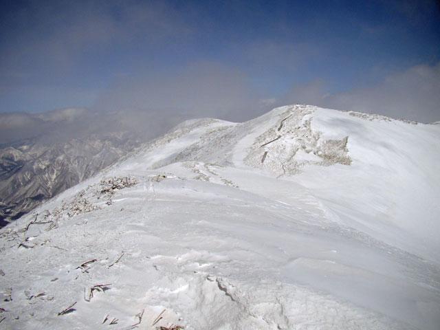 仙ノ倉山の山頂までもうすぐ