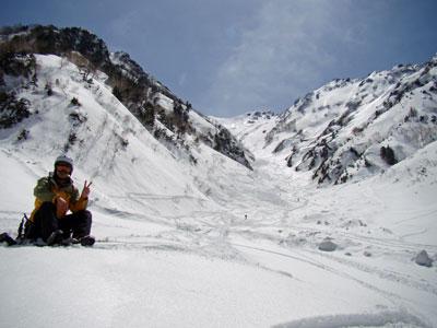雪渓はもうギタギタ