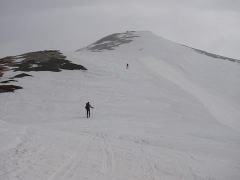 薬師岳へと登る