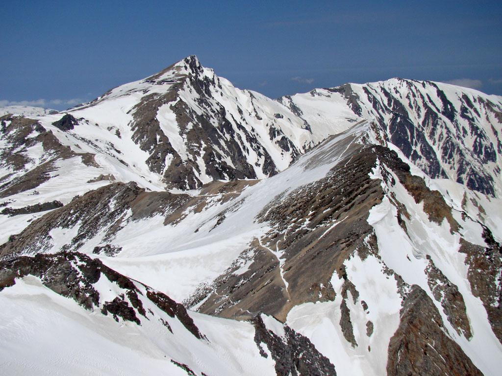 白馬岳と杓子岳