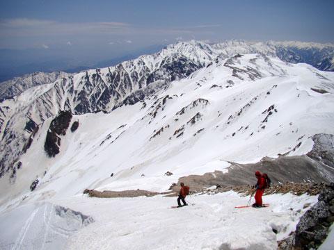 山頂から直接ドロップ
