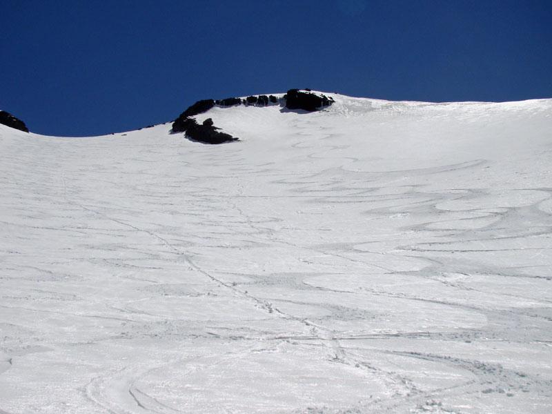白山岳からのシュプール