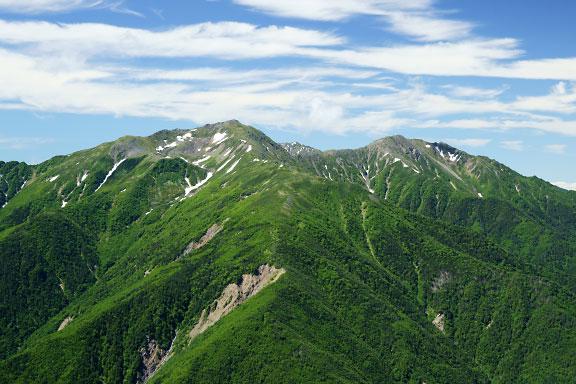 蝙蝠岳は荒川三山の好展望地