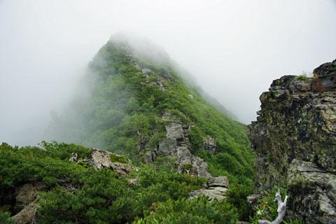 アサヨ峰から岩稜帯を下ってきた