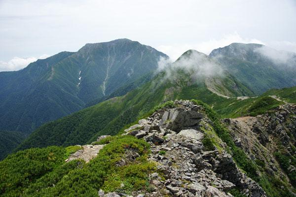 聖岳 中盛丸山 兎岳