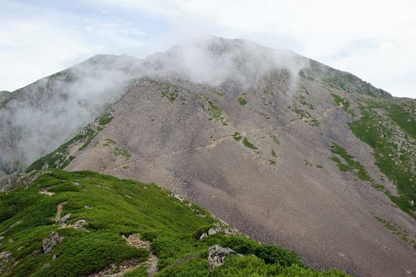 赤石岳への登りに差し掛かる