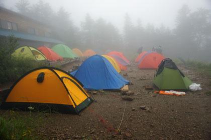 三伏峠のテント場