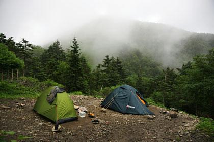 熊ノ平のテント場