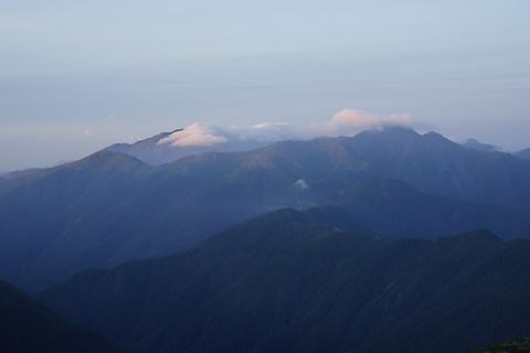 悪沢岳と塩見岳