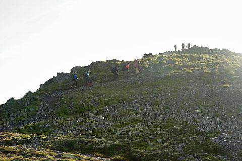これを登れば間ノ岳の山頂