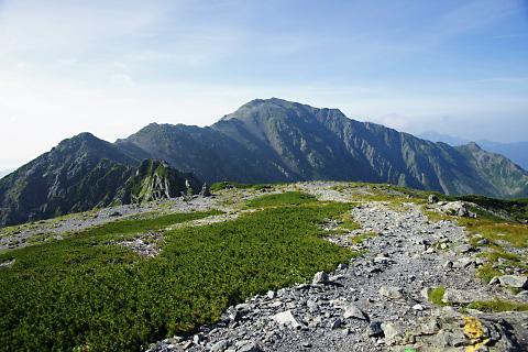 間ノ岳と三峰岳