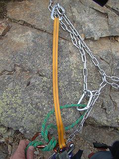 エイト環にロープをセット!
