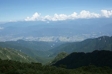 伊那谷を見下ろす