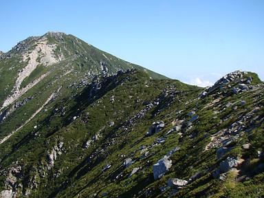 空木岳までの稜線