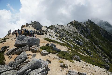 空木岳の山頂