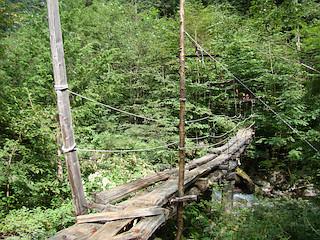 北沢の吊橋