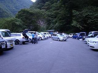 易老渡の駐車場