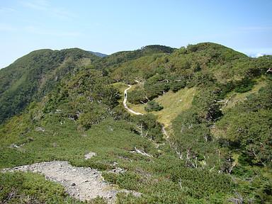 仁田岳と喜望峰を振り返る