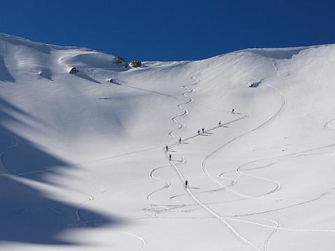 稜線への登り返し