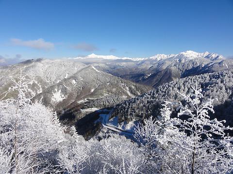 展望だから、笠ヶ岳、槍穂高の眺め