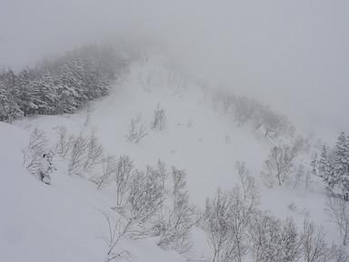 鵯峰と天狗原の間の稜線に登りついた