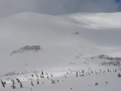 白馬乗鞍岳の東斜面