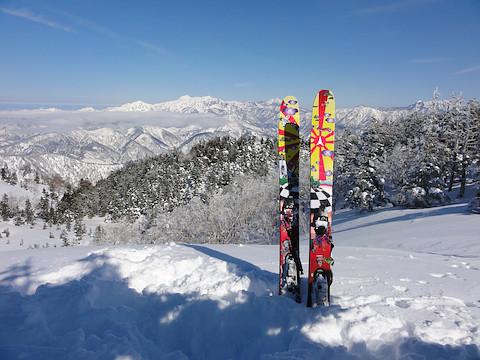 横前倉山の山頂にて