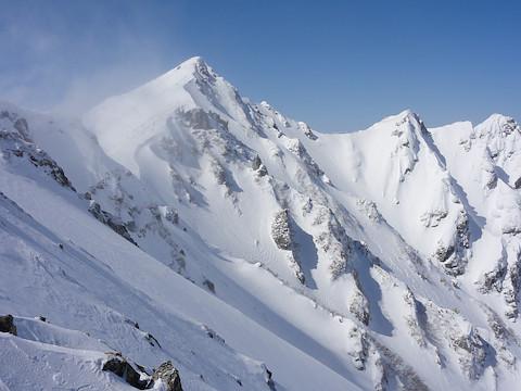 本日の唐松岳と不帰 III 峰