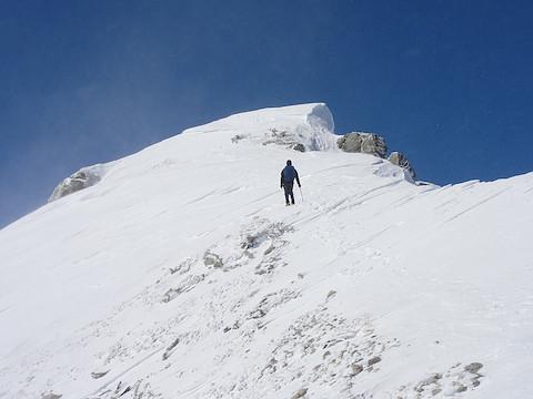 唐松岳への最後の登り