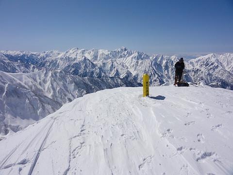 唐松岳山頂から劔岳
