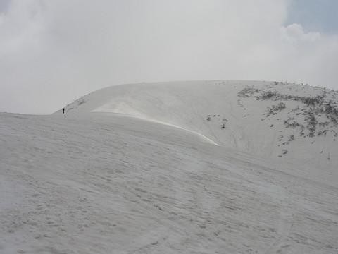大岳の山頂までもうすぐ