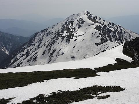 エントリー地点から三ノ沢岳
