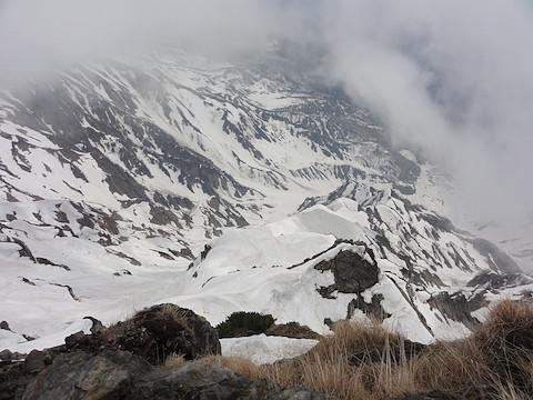 白馬岳主稜を見下ろす