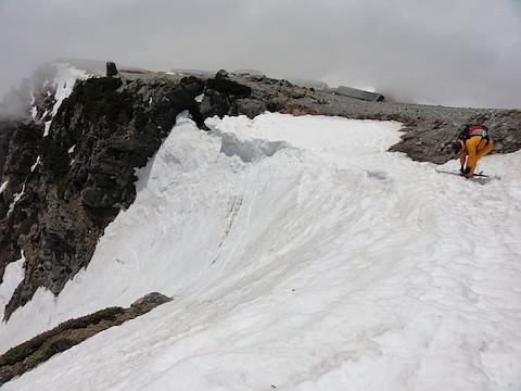 二号雪渓ドロップポイント