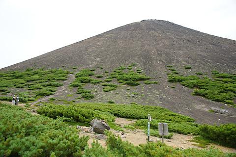 阿寒富士を見上げる
