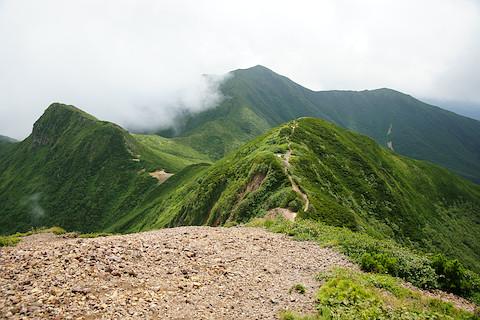 南斜里岳を眺める
