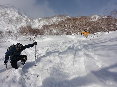 三田原山へのトレースと合流