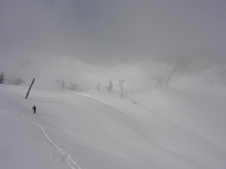 唐松沢からの登り返し