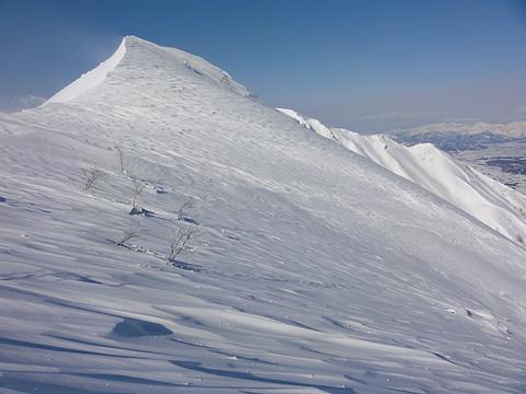 稜線の雪庇