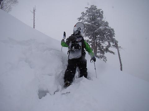 雪がかなり深い所もあり