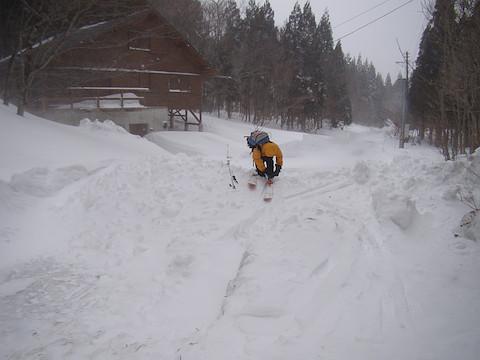 別荘地の除雪終了地点