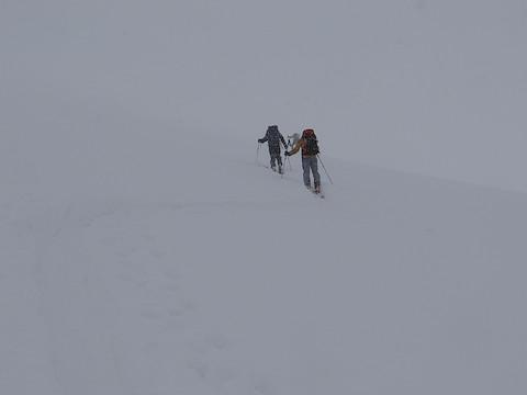 白馬乗鞍岳東面を登る