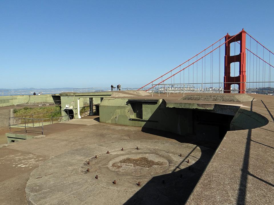 サンフランシスコ湾を守った要塞跡