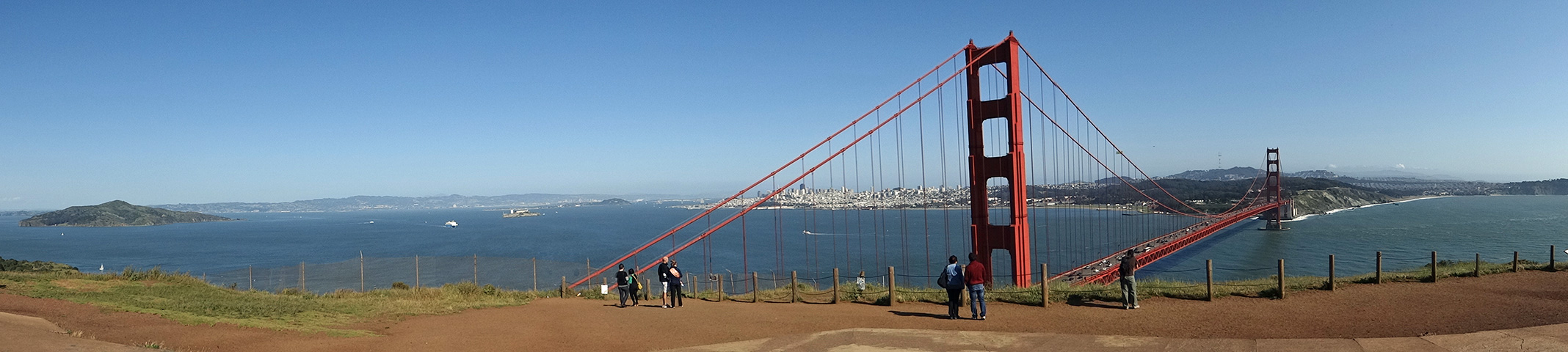 Golden Gate Bridge のパノラマ