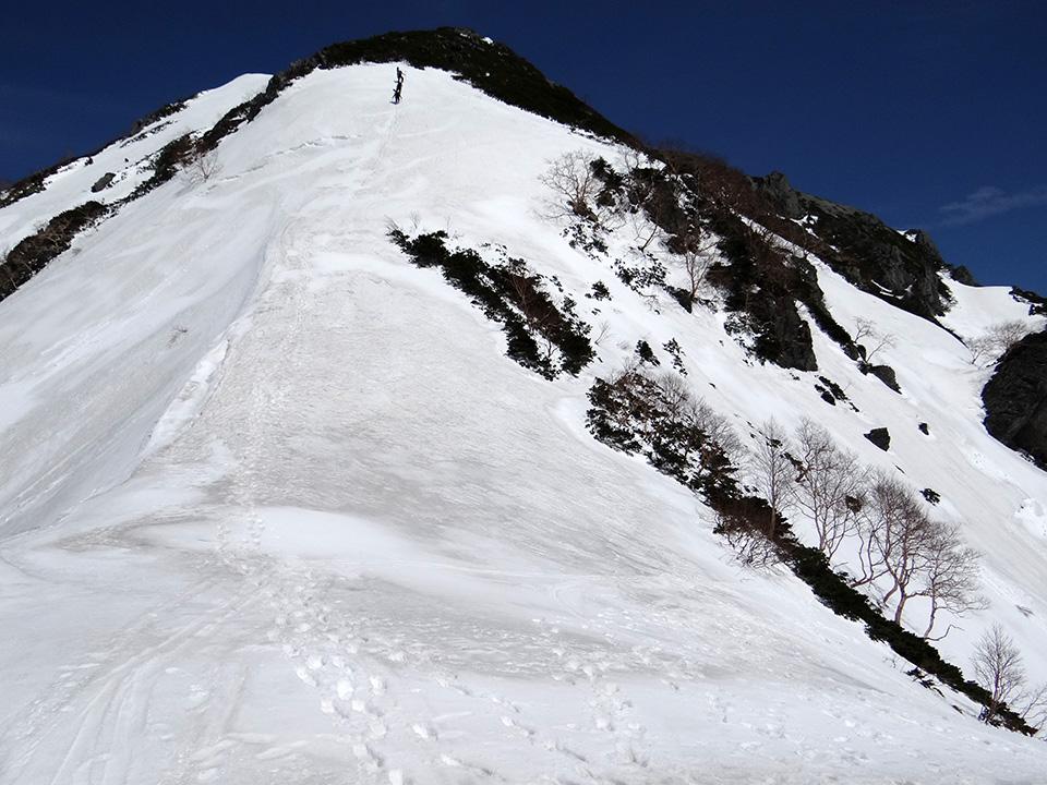 針ノ木峠から蓮華岳への登り