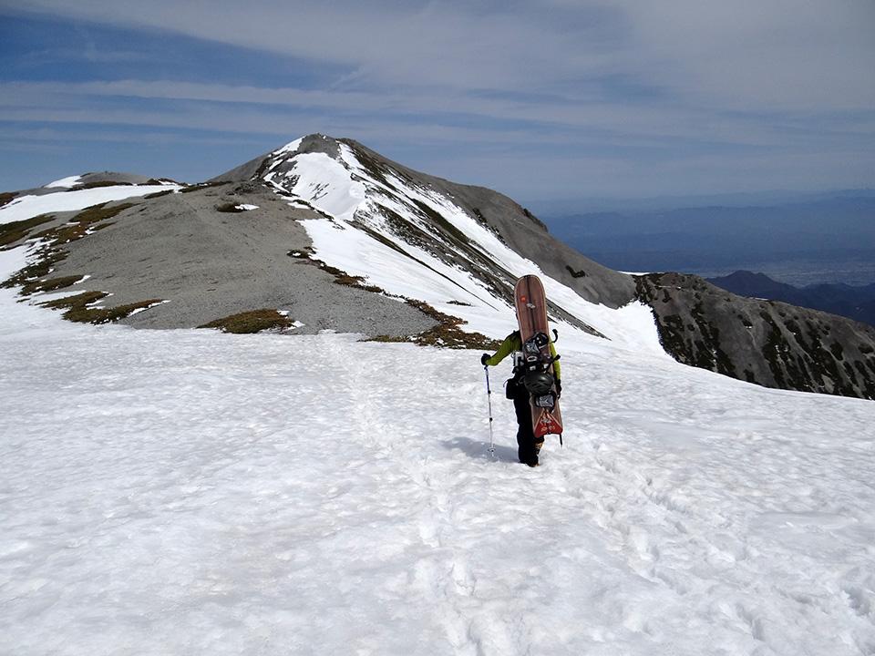 蓮華岳への稜線