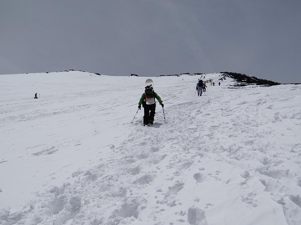 いつもツラい山頂直下の登り